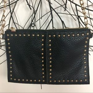 Studded leather NEIMAN MARCUS crossbody bag